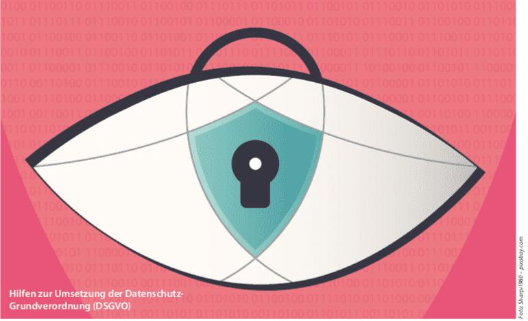 Titelbild: Hilfen zur Umsetzung der Datenschutz-Grundverordnung (DSGVO), Foto: Sharpi1980 - pixabay.com