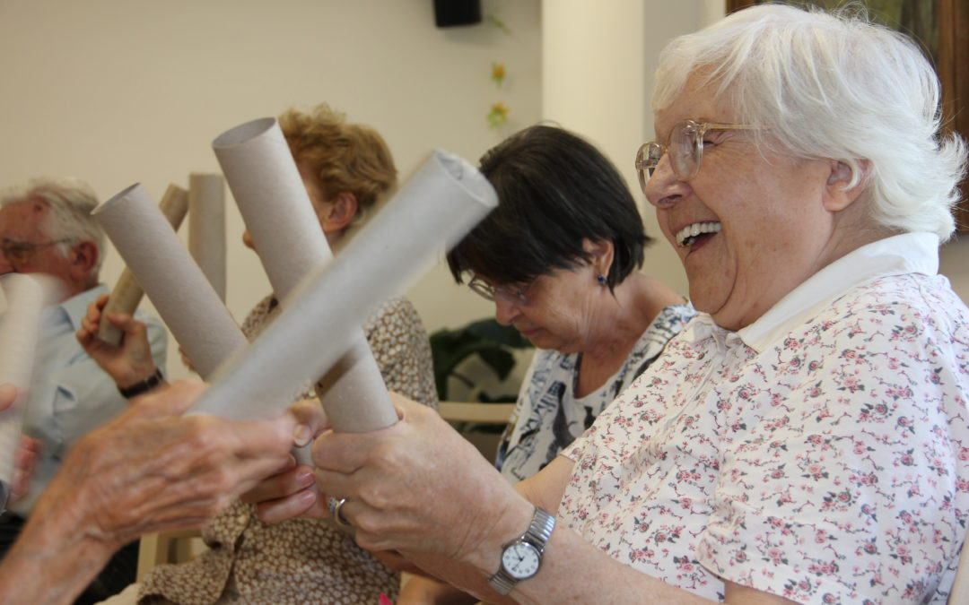 Anti-Demenz-Training, dass allen Spaß bringt (Foto: Frau Habl)