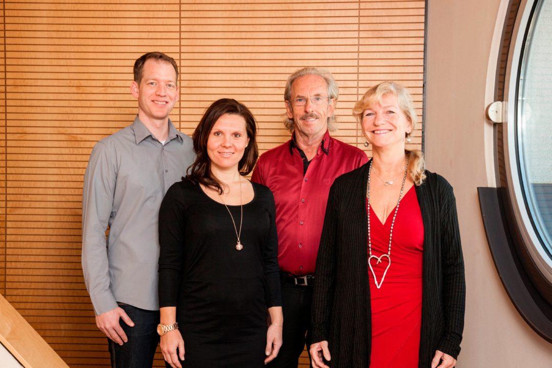 Die Geschäftsführung der WGfS GmbH (von links): Rosemarie Amos-Ziegler, Klaus Ziegler, Malvine Amos, Benjamin Amos. Foto: WGfS Gmbh