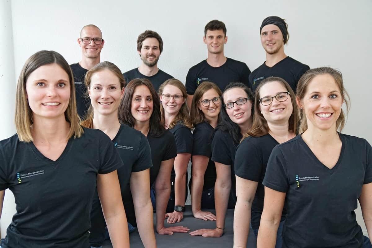 Die Mitarbeiter*innen der Physio- und Ergotherapie - Praxis Mergenthaler