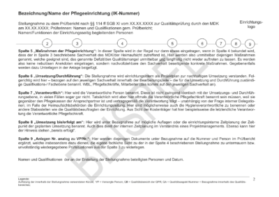 Stellungnahme Prüfbericht Beispiel 2